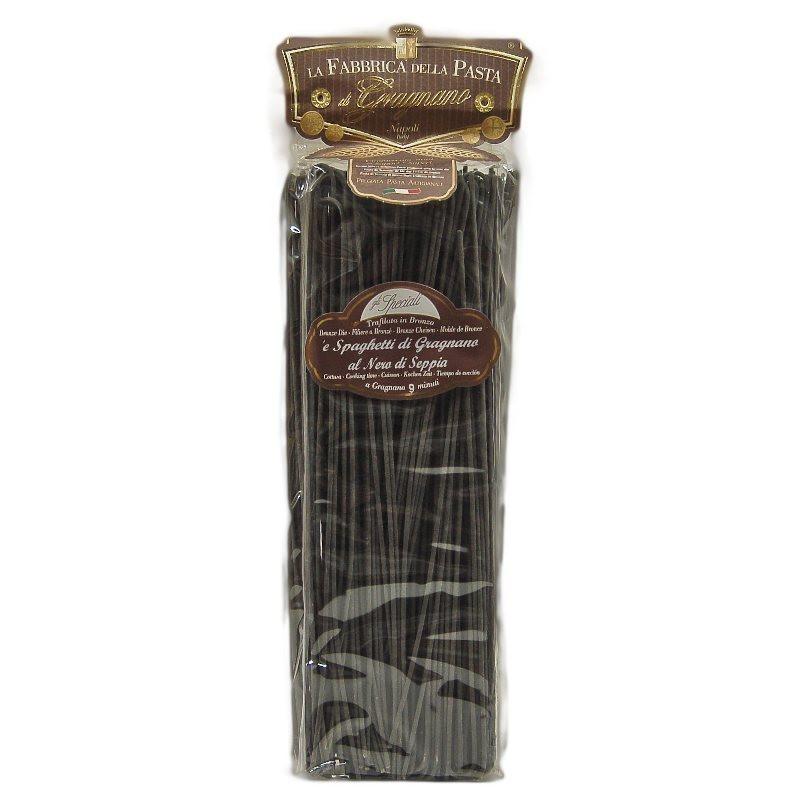 """spaghetti di """"Gragnano"""" al nero di seppia 500 Gr."""