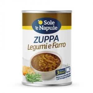 """Zuppa di cereali con Legumi e Farro 400gr - """"O Sol e Napule"""""""