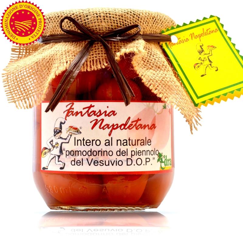 """Pomodorino del Piennolo del Vesuvio Dop in """"Intero Al Naturale"""""""