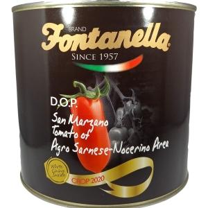 """POMODORI PELATI """"SAN MARZANO D.O.P."""" Gr. 3000 - Fontanella"""
