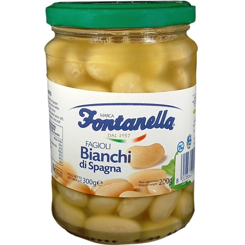 Spanish White Beans - 500 Gr Glass