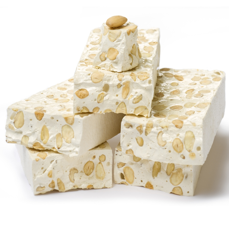 White nougat with almonds 200 gr
