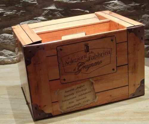 Boîte en bois Faux 3 kg de pâtes de Gragnano