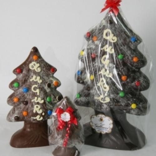 Navidad árbol de chocolate en pequeñas