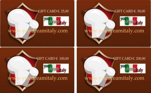 Gift Card - Dar un certificado de regalo a partir de €. 25.00