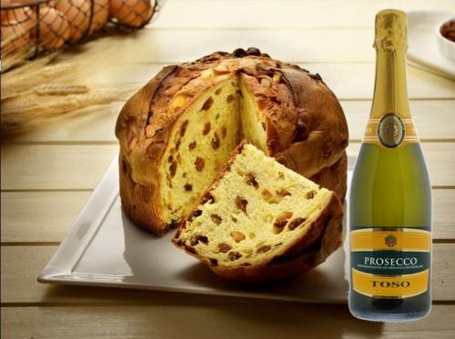 Panettone traditionnel Artisanat + Prosecco Toso 75 cl