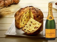 Artisanal Panettone Traditional + Champagne Veuve Clicquot Brut 75 cl.