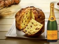 Artesanal Panettone tradicional + Champagne Veuve Clicquot Brut 75 cl.