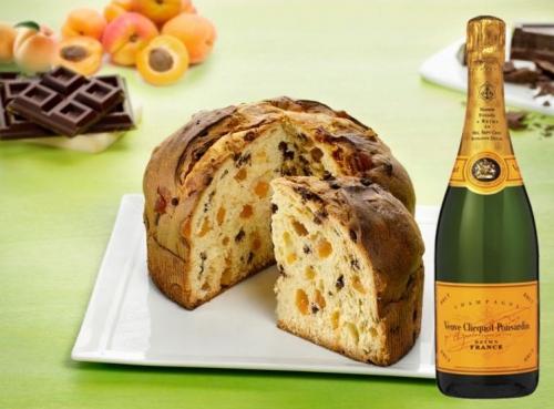 Artisan Schokolade Panettone + Champagne Veuve Clicquot Brut 75 cl.