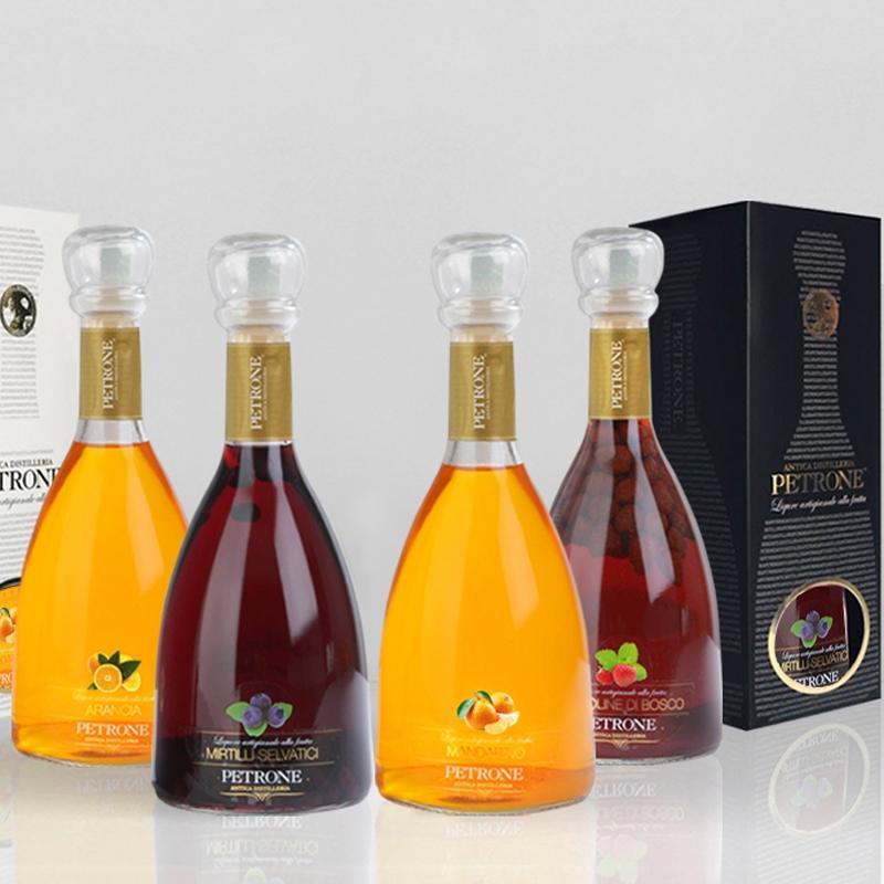 FRUIT LIQUEUR 50 Cl -  liquori speciali alla frutta - 4 Pezzi -