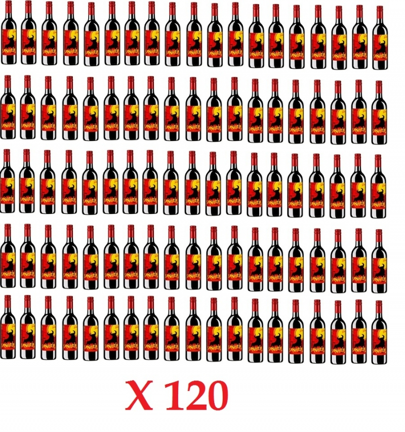 OFFER !!! Sangria in glass 75 cl 10 Boxes (120 pieces)