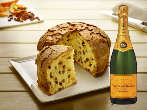 Panettone Artisan Glasierte + Champagne Veuve Clicquot Brut 75 cl.