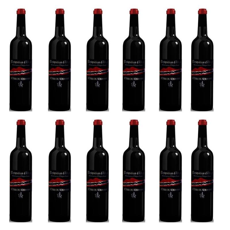 """vino Montepulciano """"Le Terre del Normanno"""" IGP - Recuadro 12 piezas"""