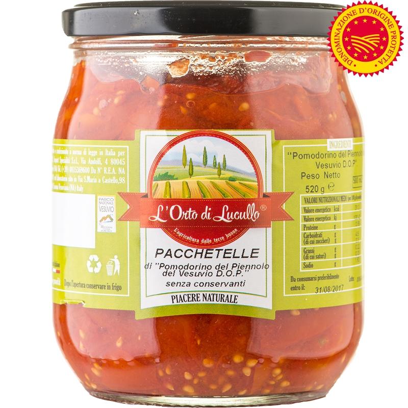 Pacchetelle de tomate Piennolo DOP 580 ml