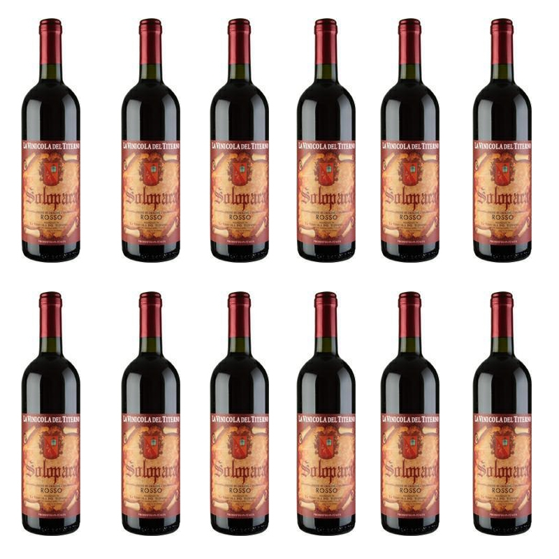 Vino Solopaca Rosso - Vinicola del Titerno (12 piezas)