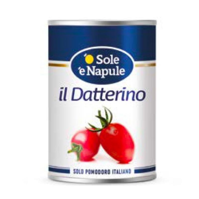 """Pomodorino datterino - 400gr Latta """"O Sol e Napule"""""""
