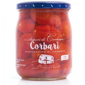 Corbari - de tomates Corbara dans l'eau salée de 520 gr. - SAPORI DI CORBARA -