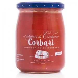 Corbari - whole tomatoes in tomato juice Corbarino 580 ml - SAPORI DI CORBARA -