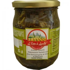 Torzella antigua napolitano salteados en aceite Evoo
