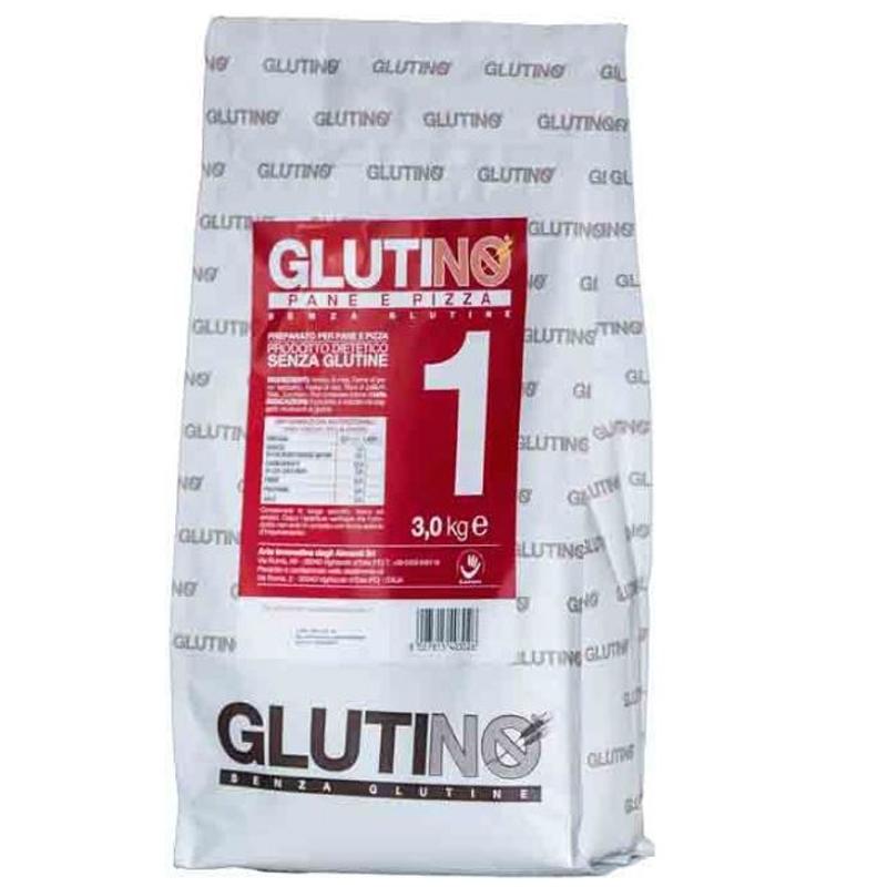 Farina Senza Glutine Glutinò Kg. 3 - Pane e Pizza