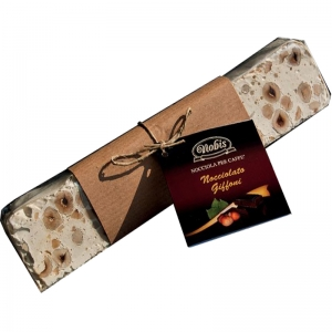 White Nougat with Hazelnut of Giffoni 200 Gr. - Nobis Nocciole