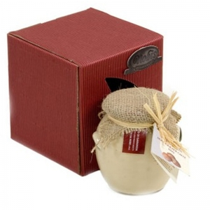 Cream ivory in glass 300 Gr. - Nobis Nocciole