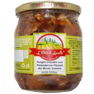 Funghi chiodini con Pomodoro Pizzuto del Monte Somma - Orto di Lucullo