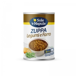 "Cereal soup with legumes and Spelt 400gr - ""O Sol e Napule"""