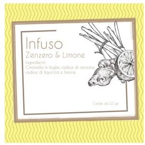 100 Cialde infuso ZENZERO E LIMONE