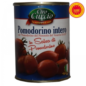 TOMATOES OF VESUVIUS PIENNOLO IN SAUCE OF VESUVIO CHERRY TOMATOES DOP - Ciro Curcio