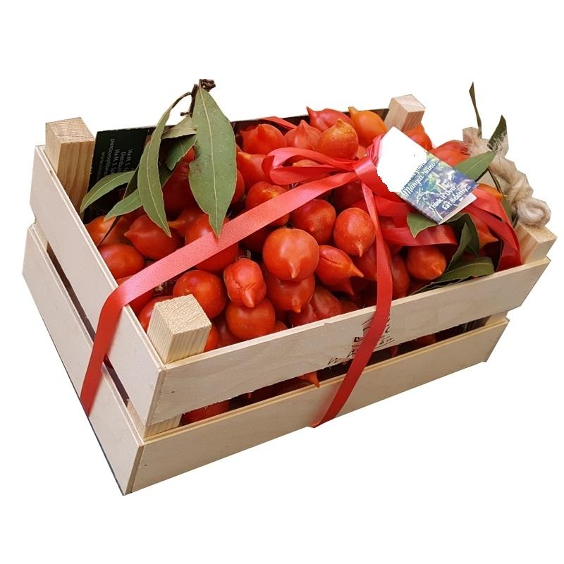 Pomodorino del Piennolo del Vesuvio confezionato in Legno - Disponibile da Settembre 2019