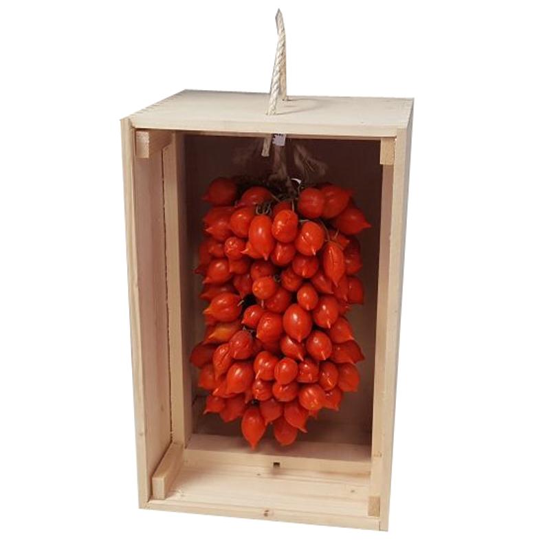 Pomodorino del Piennolo del Vesuvio in cofanetto di Legno - Disponibile da Luglio 2019