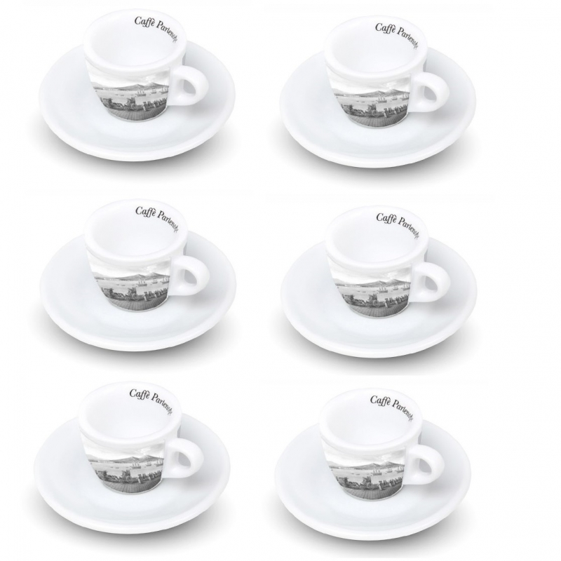 Set Coffee Cup with Gulf of Naples (6 Pieces)