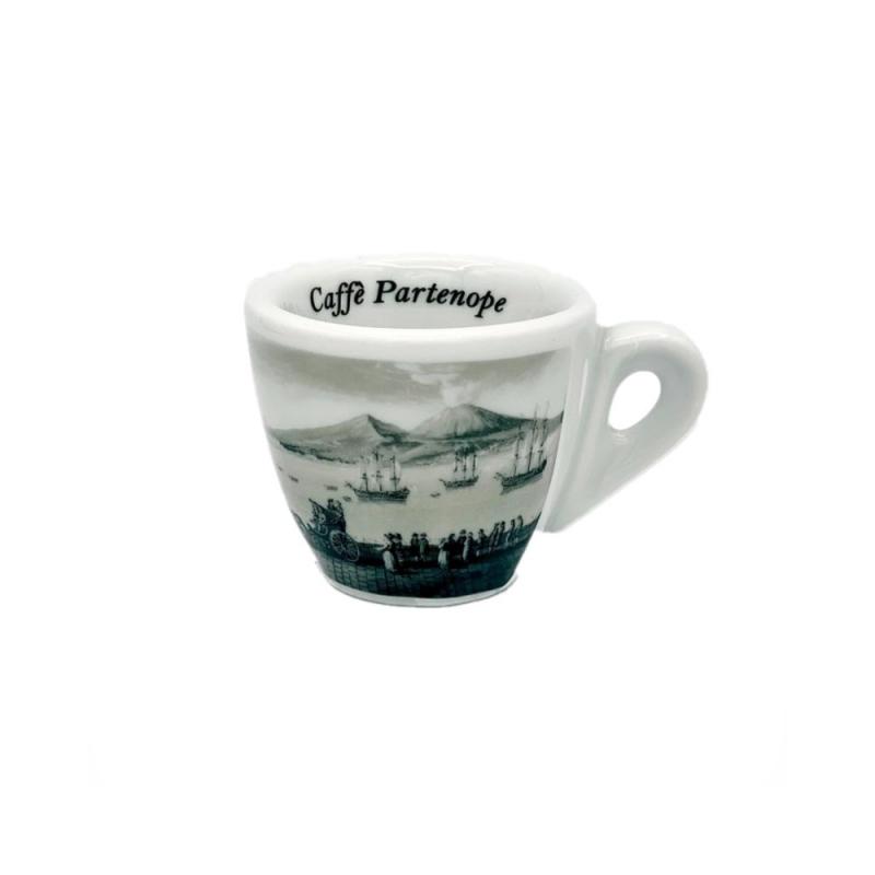 Fije la taza de café con el golfo de Nápoles (6 pedazos)