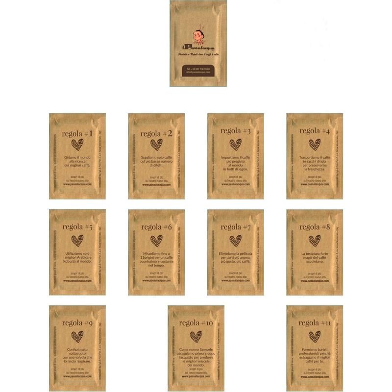 Passalacqua Zucchero di canna in bustine - Confezione Kg. 5