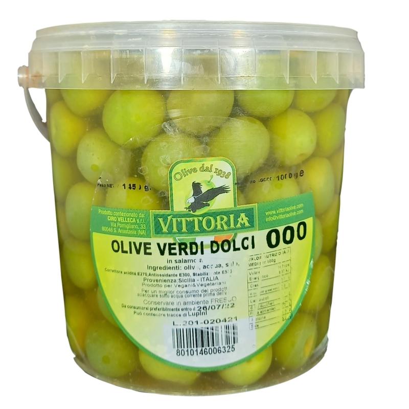 Olive Verdi Dolci Tonde Kg.1