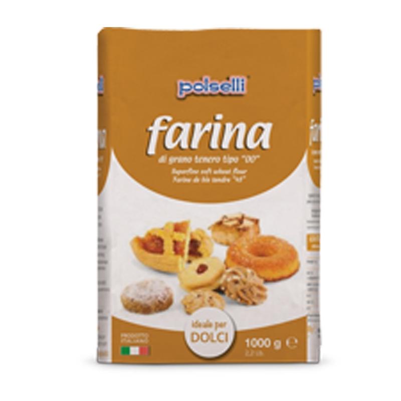 Farina Polselli 00 ideale per dolci - Kg. 1