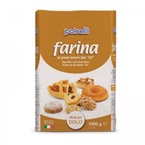 Farina Polselli 00 ideal for cakes - Kg. 1