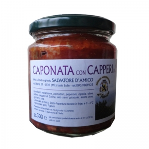 Caponata with Capers of Salina Gr.300