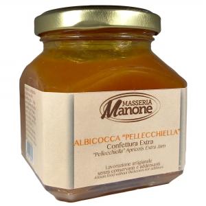"""Confettura extra di albicocca """"pellecchiella"""" del Vesuvio Gr. 220"""