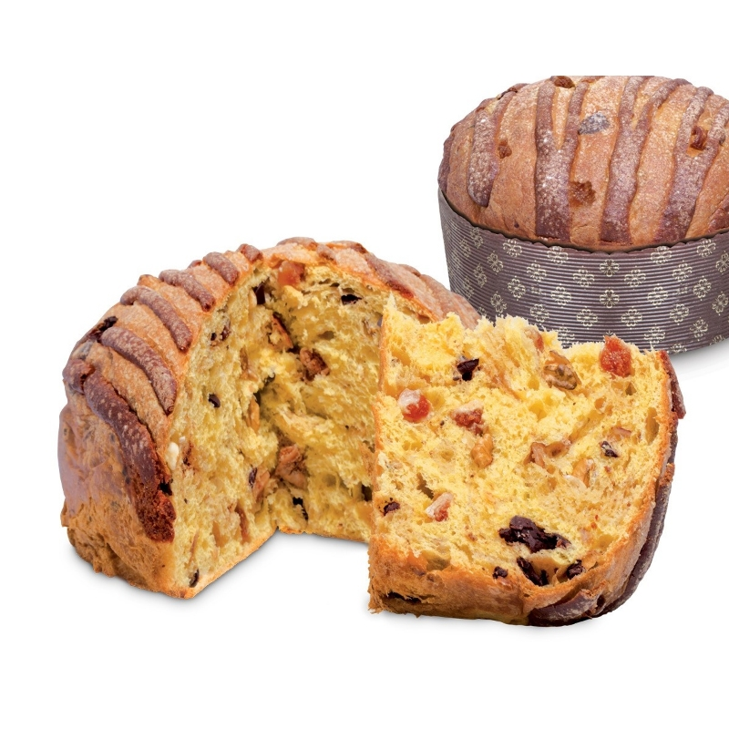 Panettone naturally risen with Nuts and Figs - iMarigliano