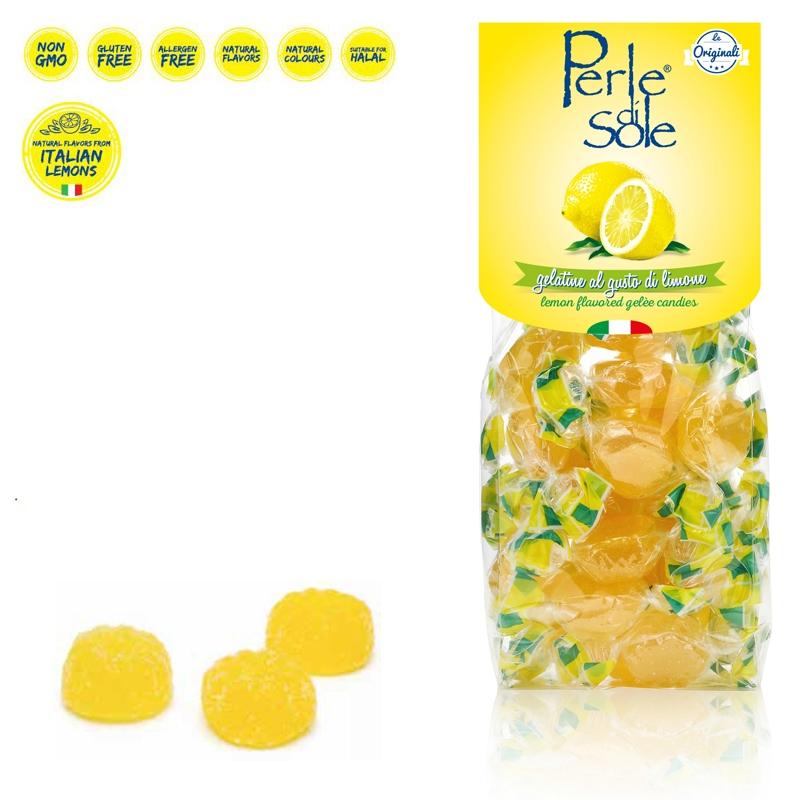 Lemon Flavored Gelèe Candies - Perle di Sole