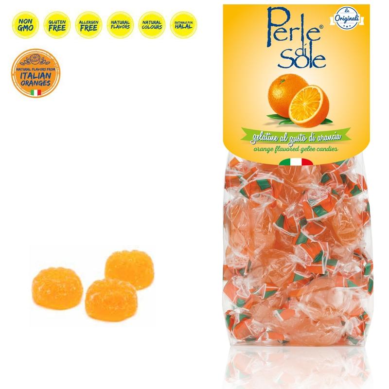 Gelatine al gusto di Arancia - Perle di Sole