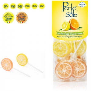 Lemon and Orange Flavored Lollipop - Perle di Sole