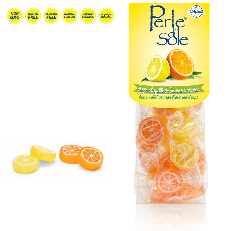 Drops al gusto di Limone e Arancia - Perle di Sole