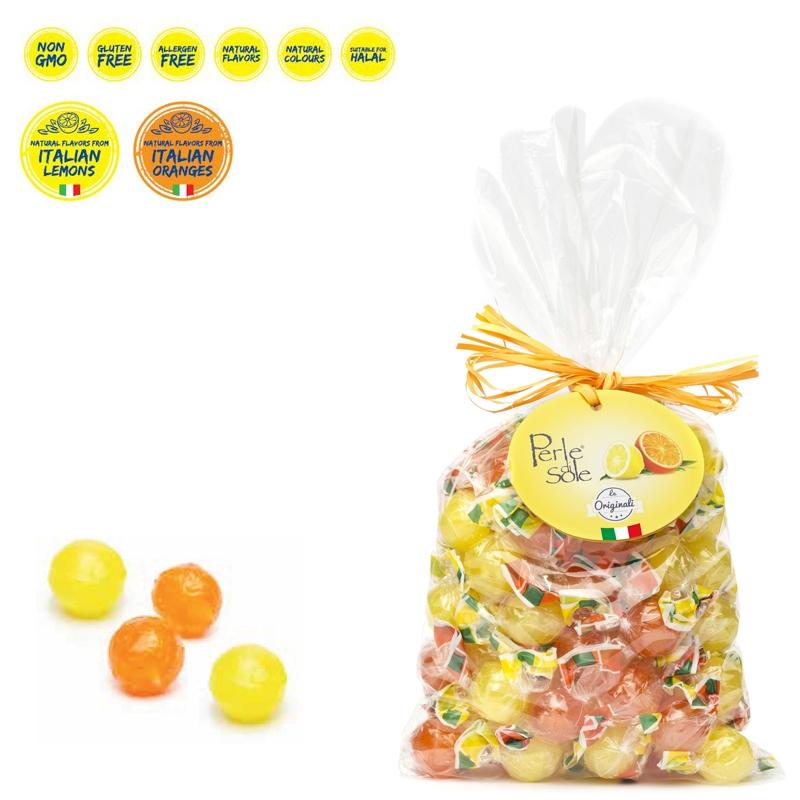 Lemon and Orange Flavored Hard Candies 500 Gr. - Perle di Sole