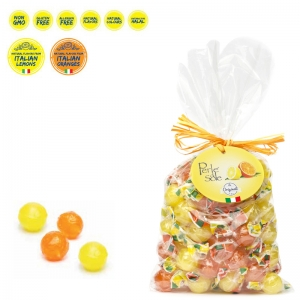 Lemon and Orange Flavored Hard Candies 500 Gr. - Perle di Sole