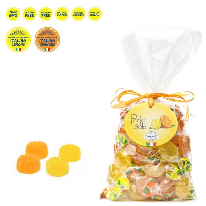 Lemon and Orange Flavored Gelèe Candies 350 Gr. - Perle di Sole