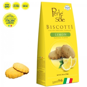Natural Lemon Flavored Biscuits - Perle di Sole