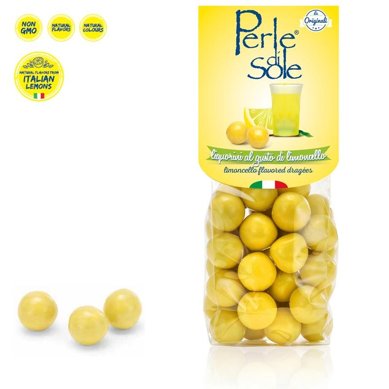 Limoncello Flavored Dragèes - Perle di Sole
